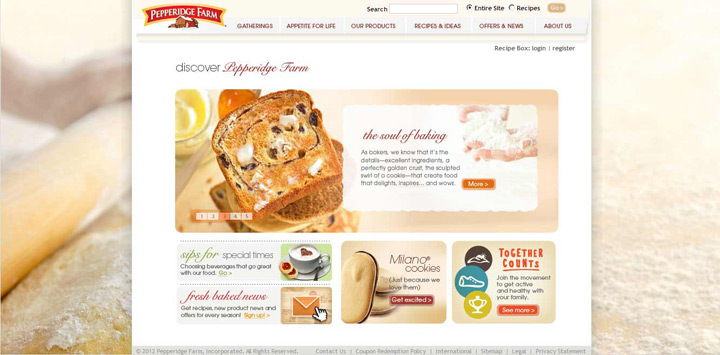 Pepperidge Farm Site Maintenance