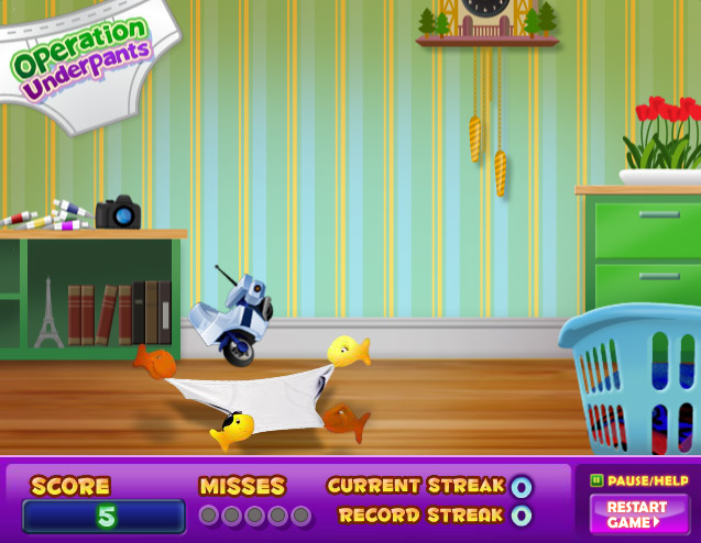 Goldfish Kids Operation Underpants Web Game