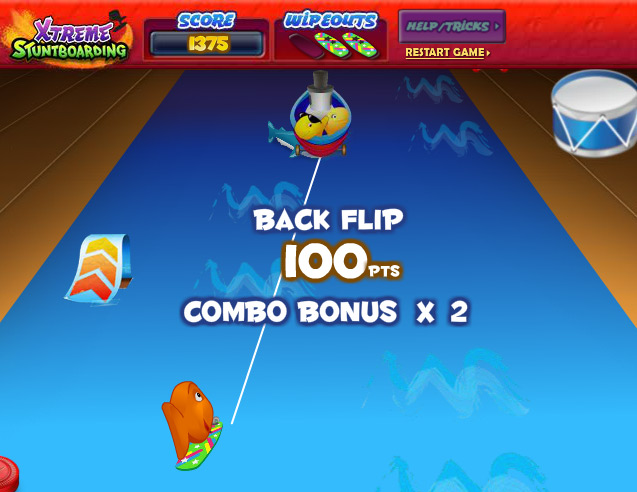 Goldfish Kids Xtreme Stuntboarding Web Game