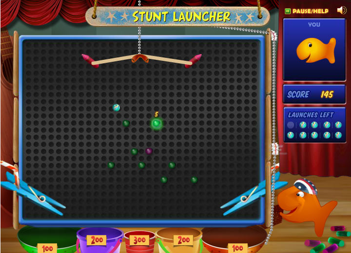 Goldfish Kids Talent Show: Stunt Launcher Mini-Game