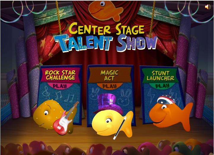 Goldfish Kids Talent Show: Main Menu